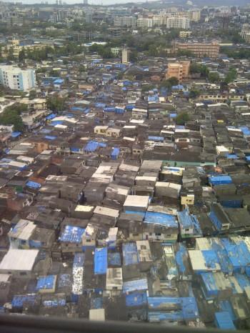Inde,avion,Mumbai,bidonvilles