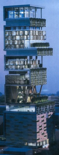 Inde,Mumbai,tour,Antilla,One World,mukash ambani,reliance