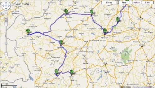 Itinéraire Rajasthan - Option 2.JPG
