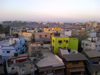 inde,mumbai,khar,appartement,vue,mer,poisson