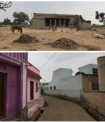 Inde,rajasthan,shekhawati,campagne,maisons,ferme