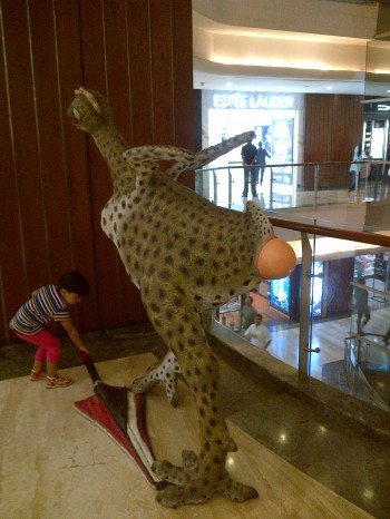 Inde,sculpture,Mumbai,palladium mall, autruche