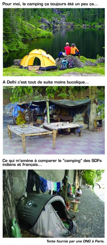 Inde,tente,camping,SDF