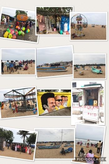 Inde,Chennai,plage