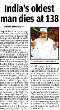 Article_Times of India_India's oldest man dies at 138_200808.JPG