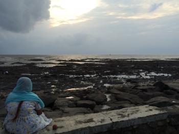 Inde,mer,Mumbai,Carter road