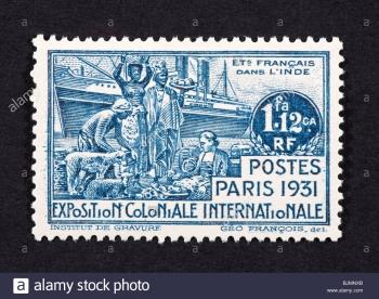 timbre-poste-de-l-inde-francaise-commemorant-l-exposition-coloniale-de-paris-1931-bjmnxb.jpg