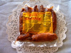 inde,cuisine,saucisse de goa,goa,oignons,pommes de terre