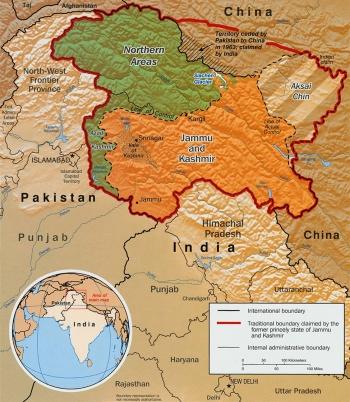 Inde,Cachemire,Kashmir,Indus,Pakistan,Chine,Modi,crise de l'eau,barrages,colonie,décolonisation,indépendance,hindou,musulman,Chine