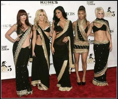 Pussycat dolls en sari.JPG