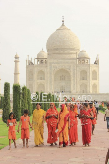 Inde,Agra,Taj,orange,Shiva,pèlerins